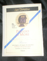 THEME CHOUETTE / OWL : ETIQUETTE VIN POGGIO AI MORI - CHIANTI CLASSICO - SAN DONATINO - ITALIE