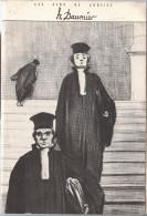 """Six Planches 14X21cm Illustrateur Honoré Daumier Dans Une Pochette """" Les Gens De Justice"""" - Avocat Juge - - Other"""