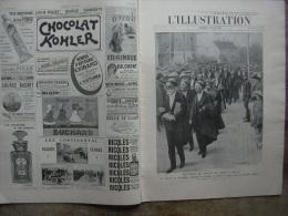 L�ILLUSTRATION 3354 PEKING-PARIS/ LINNE/ GREVE INSCRITS MARITIMES  8 JUIN 1907