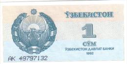 Uzbekistan 1 Cym Año = 1992 - Uzbekistán