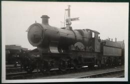 GWR Steam Train 4-4-0, Hobart, City Class, No. 3703, Real Photograph Postcard - Trains