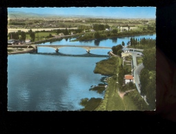 SAINT ST SYMPHORIEN D'ANCELLES Saône Et Loire 71 : Vue Aérienne Au Dessus Du Pont Sur La Saône - Andere Gemeenten