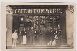 ST   JUNIEN    caf� du commerce  CARTE PHOTO