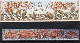 GB GREAT BRITAIN 1988 SPANISH ARMADA SET OF 5 PRESENTATION PACK SHIPS SPAIN ENGLAND HISTORY - Sin Clasificación