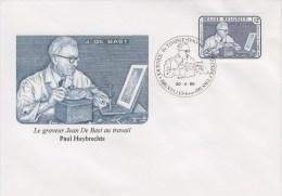 Enveloppe 1985 N° 2169 Avec FDC - Jean De Bast, Graveur Et Peintre - 06 - FDC