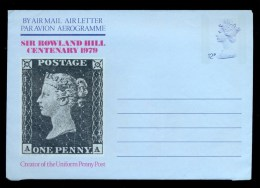 AEROGRAMME AEROGRAM STATIONERY * UNITED KINGDOM UK GB * ROWLAND HILL CENTENARY 1979 * MINT - Luftpost & Aerogramme