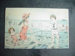 Cpa  Enfants à La Mer. - Fantaisies