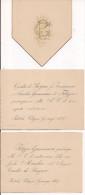PRATOLA PELIGNA, AQUILA, INVITO AL MATRIMONIO, 1887, CESIDIO DE PROSPERO - AMELIA GIAMMARCO,PER BARONE GENNARO SARDI, - Annunci Di Nozze