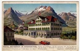 HOTEL MEYERHOF IN HOSPENTAL - URI - PUBBLICITA' - Vedi Retro - Formato Piccolo - UR Uri
