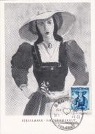 Carte Maximum AUTRICHE N° Yvert 749  (STEIERMARK-SALZKAMMERGUT ) Obl Sp Ill 1949 - Maximumkarten (MC)