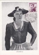 Carte Maximum AUTRICHE N° Yvert 754  (ZILLERTAL) Obl Sp Ill 1949 Fügen - Maximumkarten (MC)