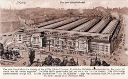 LEIPZIG - Der Neue Hauptbahnhof, Eröffnung 1915 - Leipzig