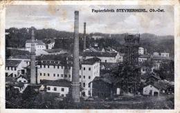 Papierfabrik STEYRERMÜHL Karte Gel.1925 Von Lambach > Atzgersdorf B.Wien - Ohne Zuordnung