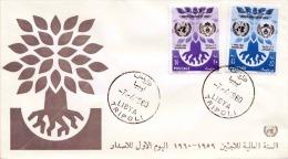 LIBYA - First Day Cover 1960 - 2 Sondermarken - Libyen