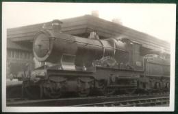 GWR Steam Train 4-4-0, Lyttleton, City Class, No. 3704, Real Photograph Postcard - Trains