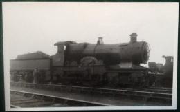 GWR Steam Train 4-4-0, Melborne, City Class, No. 3706, Real Photograph Postcard - Trains