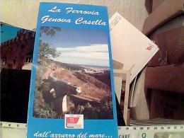 BROCHURE FERROVIA TRENO  TRAIN GENOVA CASELLA 2004 EN9787 - Ferrovie