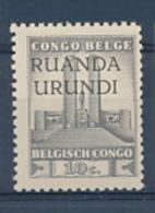 RUANDA URUNDI 1941 ISSUE ALBERT'S MEMORIAL COB 121 MNH - 1924-44: Neufs