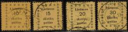 3376. Lithuania #9-12 Comp. Set 1919 Used