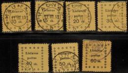 3377. Lithuania #13-19 Comp. Set 1919 Used