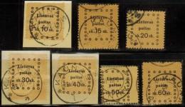 3378. Lithuania #20-26 Comp. Set 1919 Used