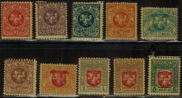 3379. Lithuania #30-39 Comp. Set 1919 MH
