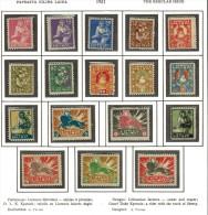 3399. Lithuania #97-113 Comp. Set 1921-22 MLH