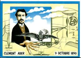 Illustrateur Bernard Veyri : Clément Ader, Aviation, Chateau D' Armainvilliers , Cpm, Tirage 400 Ex , édition Dalix - Veyri, Bernard