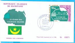 Mauritania IR.  FDC.  Reunifiee. 1976. - Mauritania (1960-...)