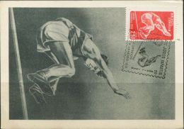 PA0953 Brazil 1958 High jump Maximum Card MNH