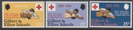 GILBERT/ELLICE Is, 1970 RED CROSS 3 MNH - Îles Gilbert Et Ellice (...-1979)