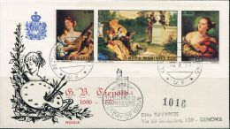 PA0940 San Marino 1970 Painting Goddess  First Day Entire Cover 3v MNH - Arte