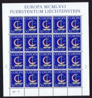 1966  Europa    Feuillet De 20 **  Michel 469 - Blocs & Feuillets