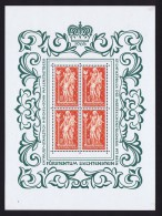 1965  Madonne De Schellenberg   Feuillet De 4 Timbres Michel 449 **