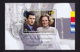 1993  Mariage Du Prince Alois Michel  942-4   Bloc Feuillet Oblitéré Premier Jour