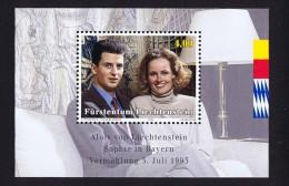 1993  Mariage Du Prince Alois Michel  942-4   Bloc Feuillet **