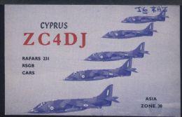 WC432 QSL ZC4DJ CYPRUS ( AEREI ) - Radio Amateur