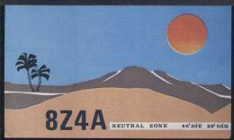 WC442    QSL 8Z4A NEUTRAL ZONE - Radio Amateur