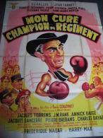 Affiche Originale - MON CURE CHAMPION DU REGIMENT 1955 - J. Carmet  - E. Couzinet -
