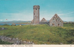 The Round Tower And Armoury,Peel Castle,Isle Of Man,S23 . - Isle Of Man