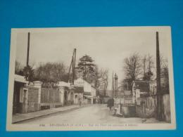 91) Ris-orangis N° 6765 - Rue Du Pont Au Passage à Niveau    - Année   - EDIT- Photo édition - Ris Orangis