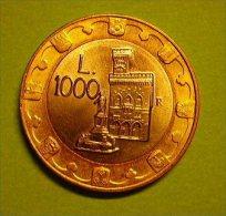 MONETA DA 1000 LIRE DI SAN MARINO DEL 1997 - - San Marino