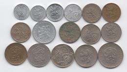 Tchécoslovaquie : Lot De 16 Pièces Différentes 1928-1992 - Czechoslovakia