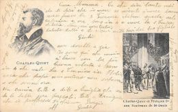 [DC5712] CARTOLINA - CHARLES QUINT ET FRANCOIS I AUX TOMBEAUX DE ST. DENIS - Viaggiata - Old Postcard - Storia