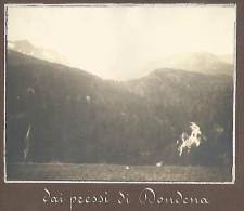 Champorcher 4.8.1911, Dai Pressi Di Dondena, Fotografia Originale D´epoca Cm. 10 X 8. - Aosta