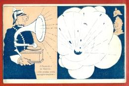 PHONOGRAPH GRAMOPHONE PROPAGANDA VINTAGE PC.W1976 - Satirische