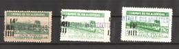 Algérie 1947  - Colis Postaux  ,Yvert# 202/04 ( 3v) - Variété Surcharge à Cheval  -  Neufs Sans Charnières  ** - Algeria (1924-1962)