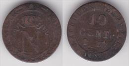 10 CENTIMES NAPOLEON 1er 1808 BB En Billon TTB  (voir Scan) - Francia