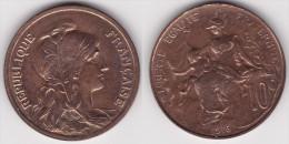10 CENTIMES DANIEL DUPUIS 1916 En Bronze SUPERBE (voir Scan) - France