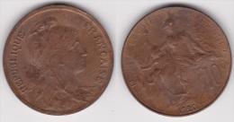 10 CENTIMES DANIEL DUPUIS 1920 En Bronze SUPERBE (voir Scan) - France